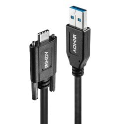 1m Dual Screw USB 3.1 Type C to A Cable