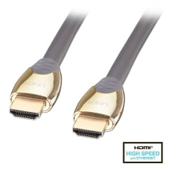 1m Gold High Speed HDMI Cable with Ethernet