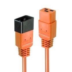 1m IEC C19 to C20 Extension Cable, Orange
