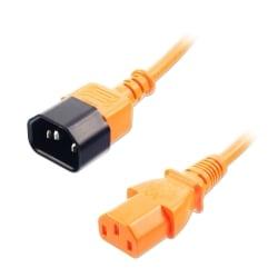 1m IEC Extension Cable, Orange