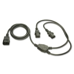 1m IEC to IEC/IEC 'Y' Ext Cable IEC C14 to 2 x IEC C13