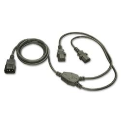 1m IEC to IEC/IEC 'Y' Ext Cable IEC C14 to 2 x IEC C13