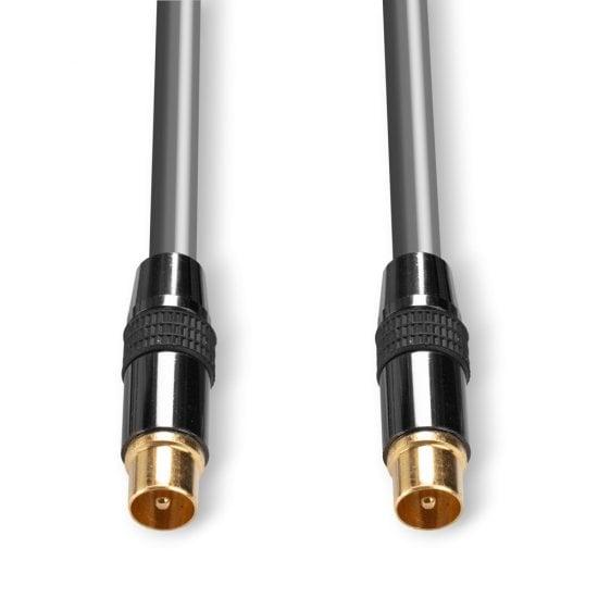 1m Premium TV Aerial / UHF / RF / Freeview Coax Cable