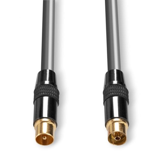 1m Premium TV Aerial / UHF / RF / Freeview Coax Extension Cable