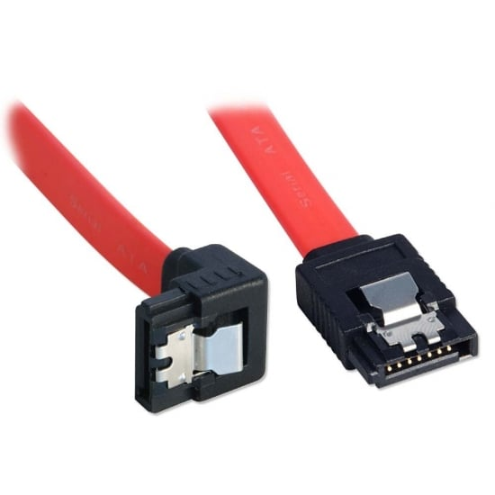 1m SATA Cable - Latching, Right-Angled (90°) Connector