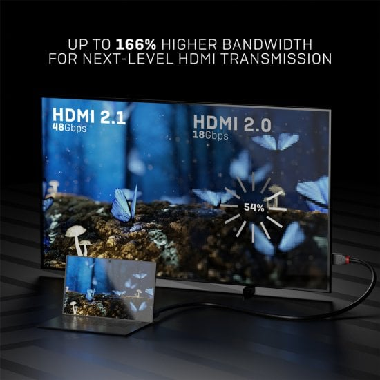 1m Ultra High Speed HDMI Cable, Anthra Line