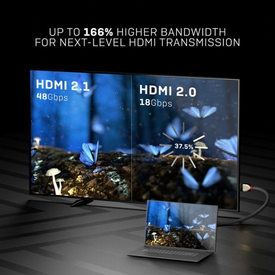 1m Ultra High Speed HDMI Cable, Gold Line