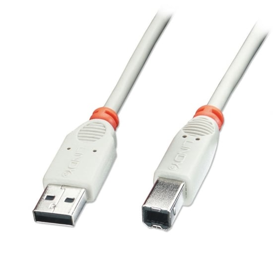 1m USB 2.0 Cable - Type A To B, Grey