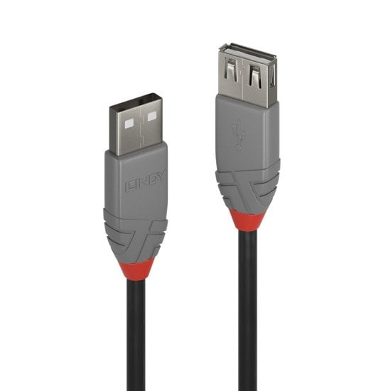 1m USB 2.0 Type A Extension Cable, Anthra Line
