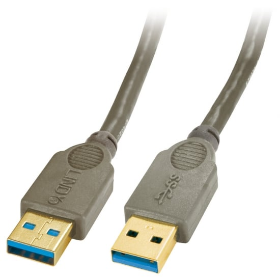 1m USB 3.0 Cable - Type A Male to A Male, Anthracite