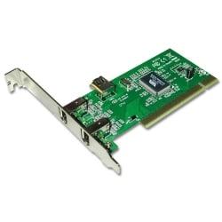 2 + 1 Port FireWire Card, PCI (32 Bit)