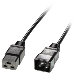 2.5m IEC C19 to IEC C20 Extension Cable, Black