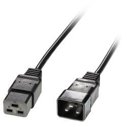 2.5m IEC C19 to IEC C20 Extension Cable, Black