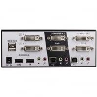2 Port Dual Head Dual Link DVI-I KVM Switch Pro with TTU