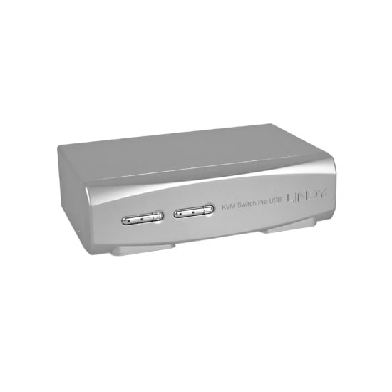 2 Port DVI-I Dual Link, USB 2.0 & Audio KVM Switch Pro