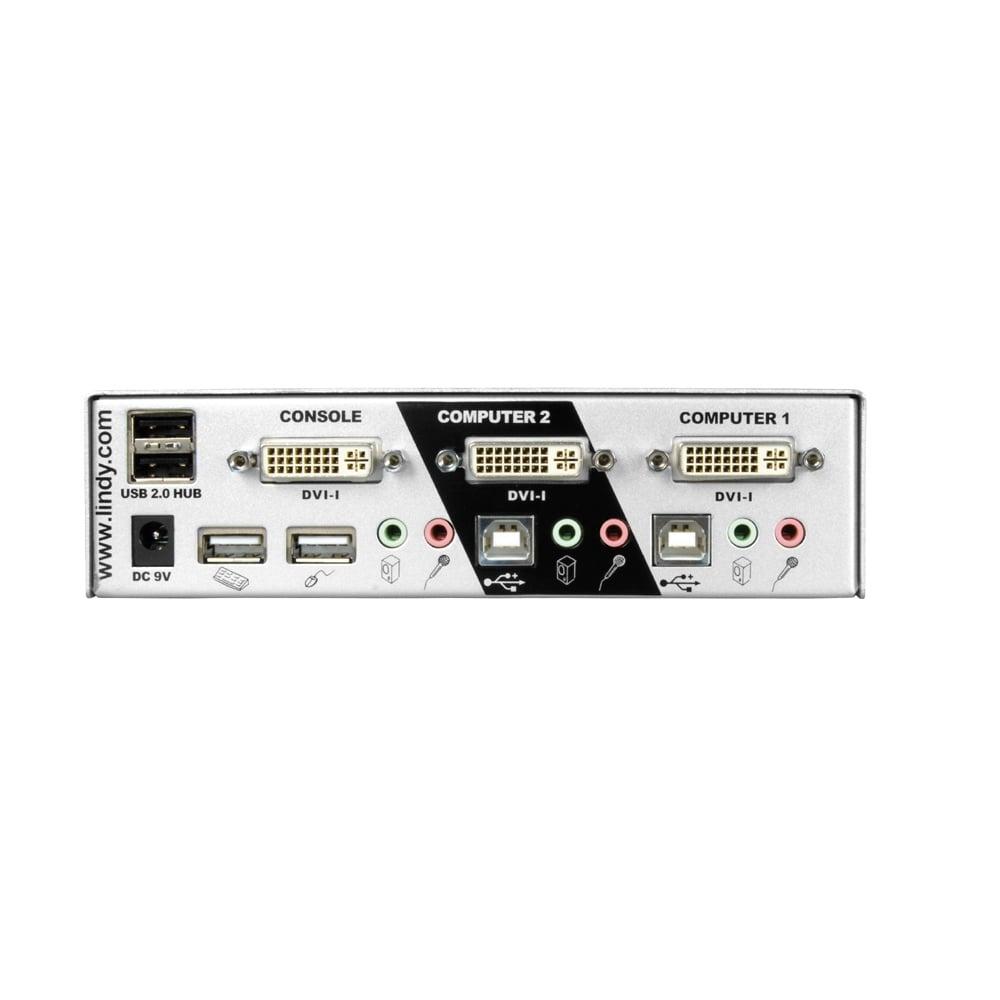 Port DVII Single Link USB Audio KVM Switch Pro From LINDY UK - Port dvi