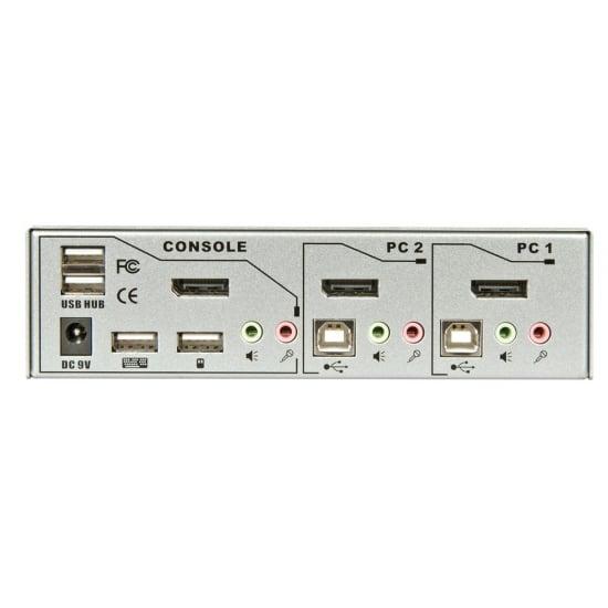 2 Port KVM Switch Pro USB 2.0, DisplayPort 1.2 with TTU