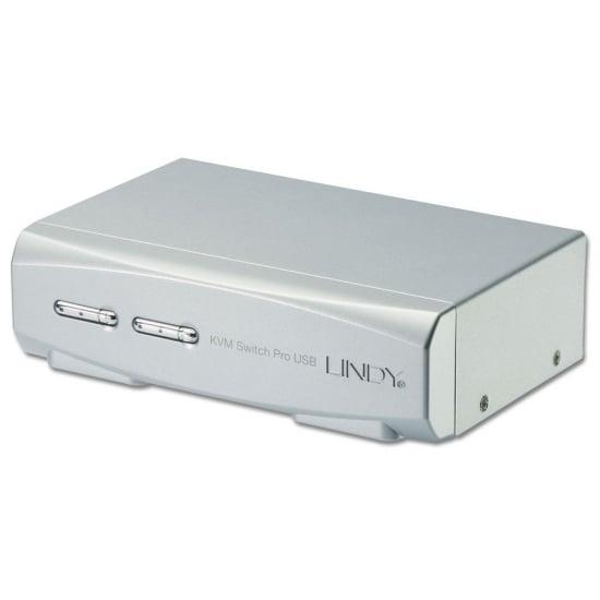 2 Port KVM Switch Pro USB 2.0, DVI-I Dual Link with TTU