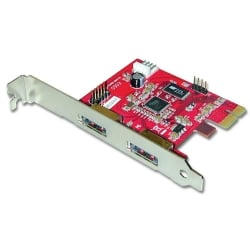 2 Port Power over eSATA Card with USB Function, PCIe