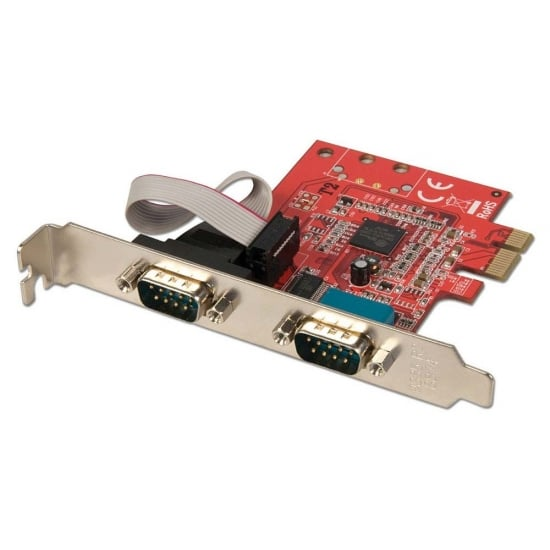 2 Port Serial RS-232, 16C650, 128 Byte FIFO Card, PCIe