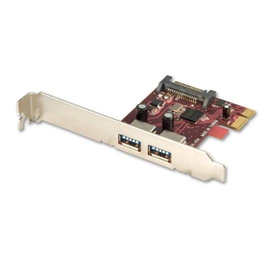 2 Port USB 3.0 Card, PCIe - SATA power connector