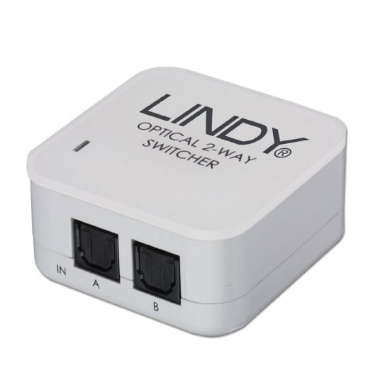 2 Way TosLink Digital Optical Audio Switch (up to 192kHz)