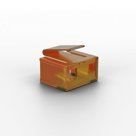 20 x RJ-45 Port Blockers (without key), Orange