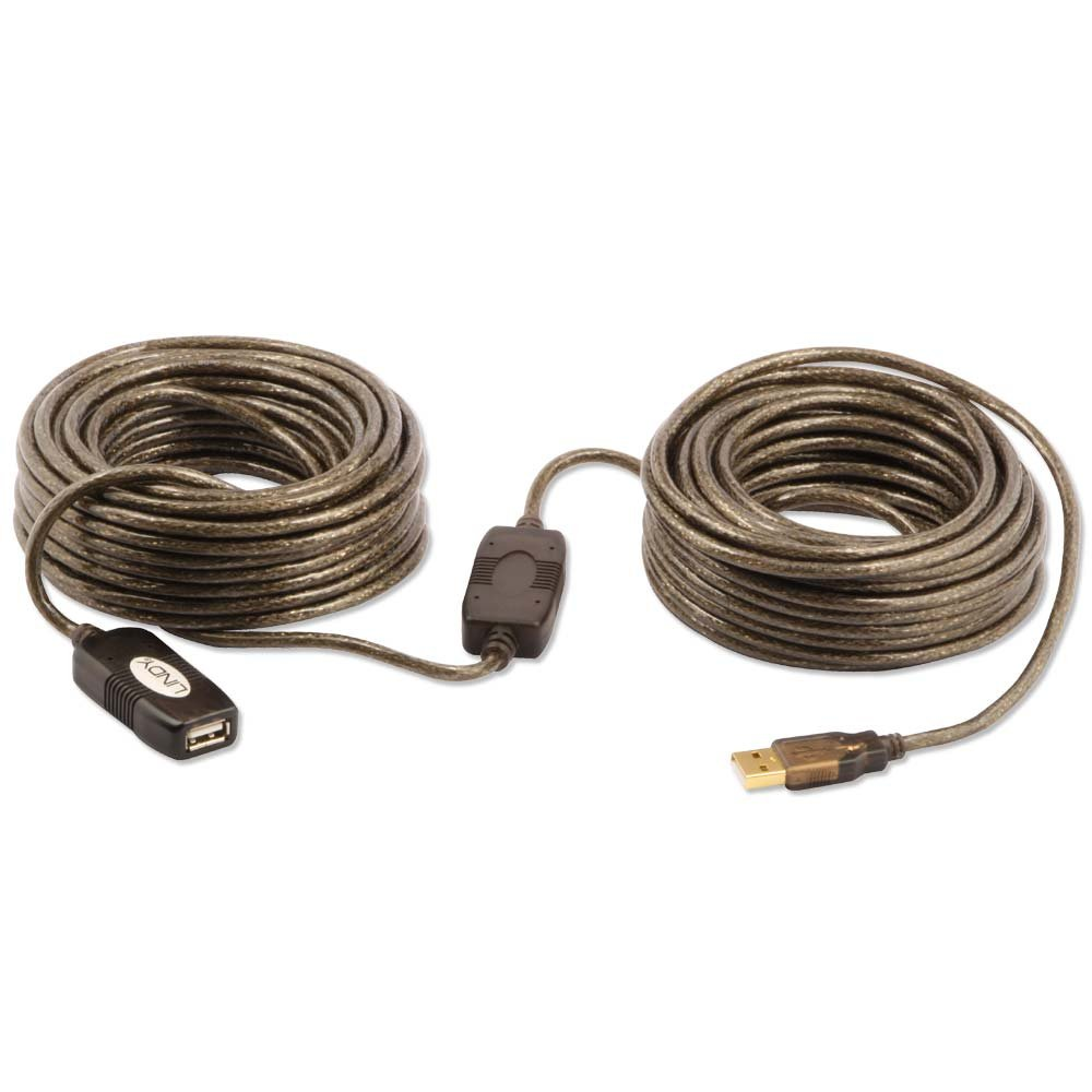 20m usb 2 0 active extension cable from lindy uk. Black Bedroom Furniture Sets. Home Design Ideas