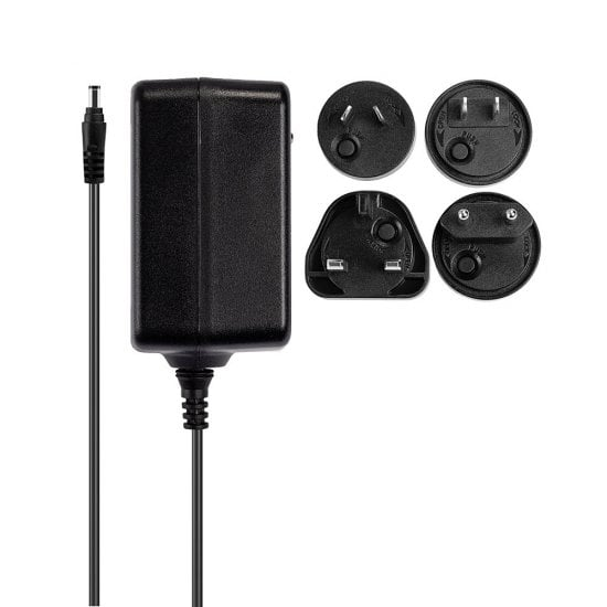 24VDC 1.25A Multi-country Power Supply, 5.5/2.1mm