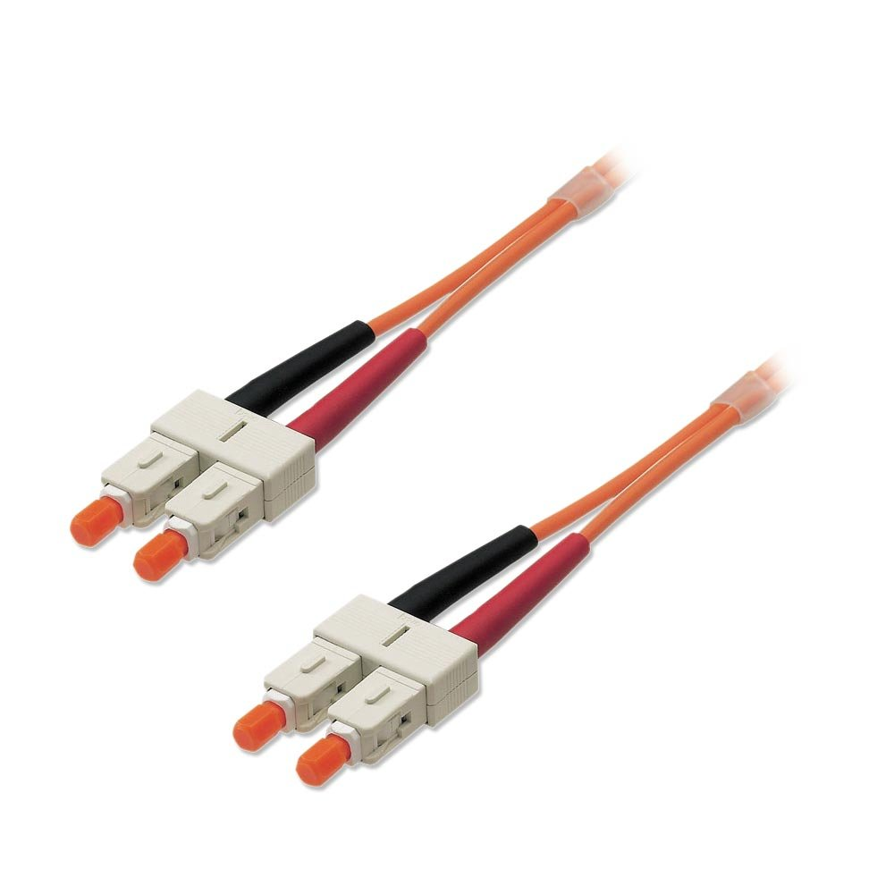 250m Fibre Optic Cable - SC to SC, 50/125µm OM2. ‹