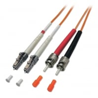 25m Fibre Optic Cable - LC to ST, 50/125µm OM2