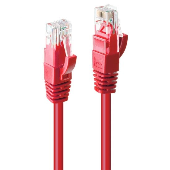 2m Cat.6 U/UTP Network Cable, Red