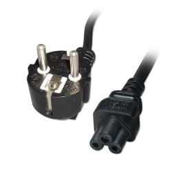 2m Clover Leaf Schuko Mains Power Cable