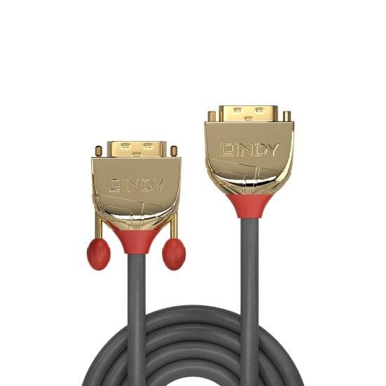 2m DVI-D Dual Link Extension Cable, Gold Line