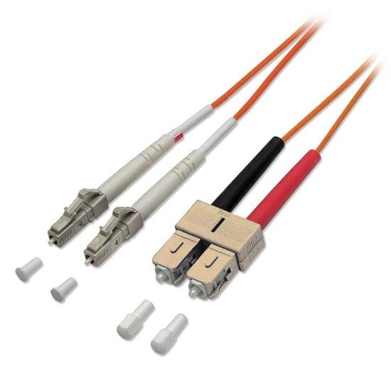2m Fibre Optic Cable - LC to SC, 50/125µm OM2