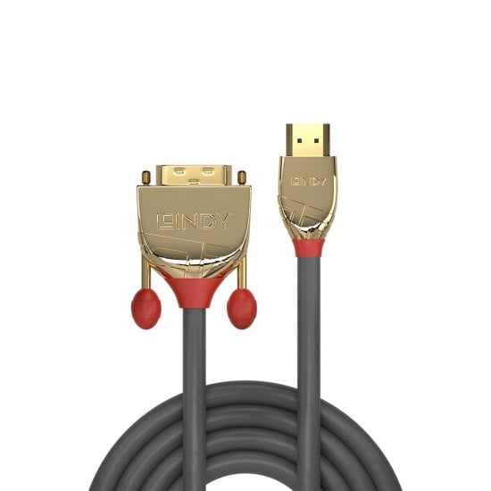 2m HDMI to DVI-D Cable, Gold Line