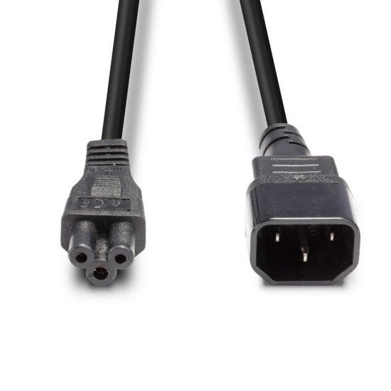 2m IEC C14 to IEC C5 Cloverleaf Extension Cable