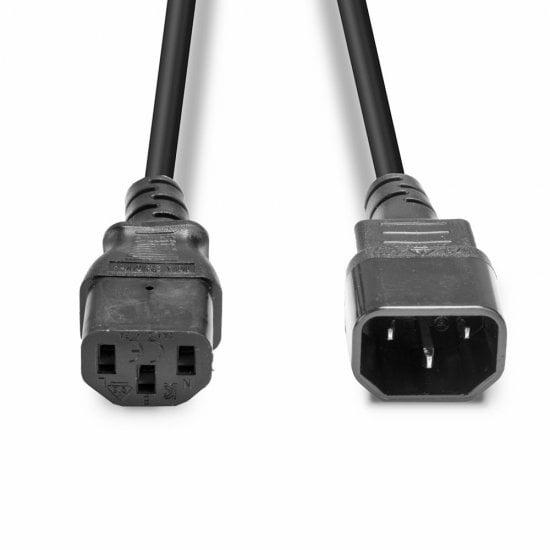 2m IEC Extension Cable, Black