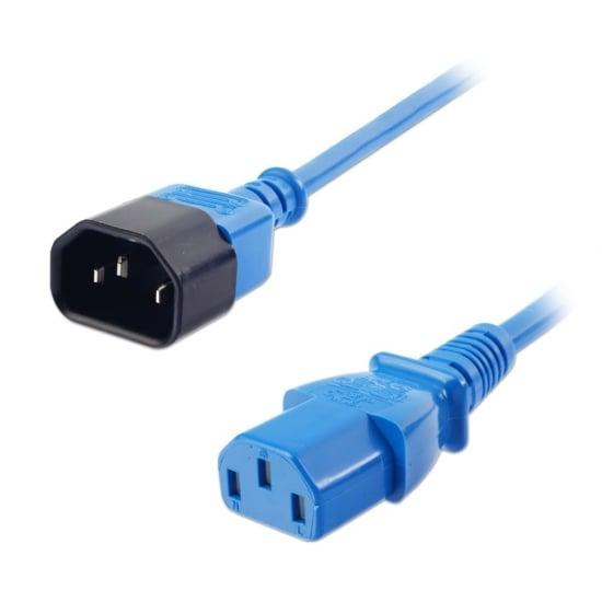 2m IEC Extension Cable, Blue