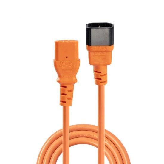 2m IEC Extension Cable, Orange