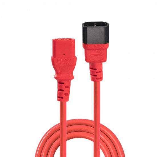 2m IEC Extension Cable, Red
