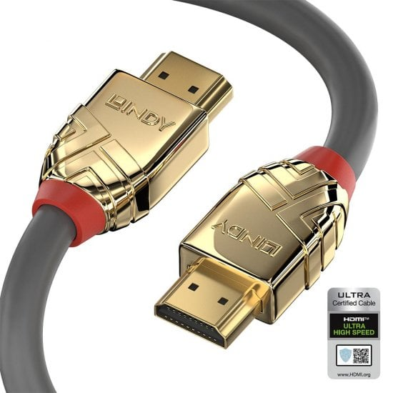 2m Ultra High Speed HDMI Cable, Gold Line
