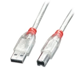 2m USB 2.0 Cable - Type A to B, Transparent