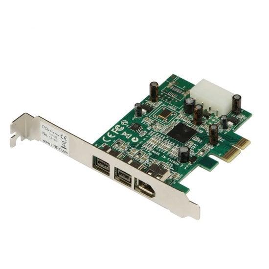 3 Port FireWire Card (2 x FireWire 800, 1 x FireWire 400), PCIe
