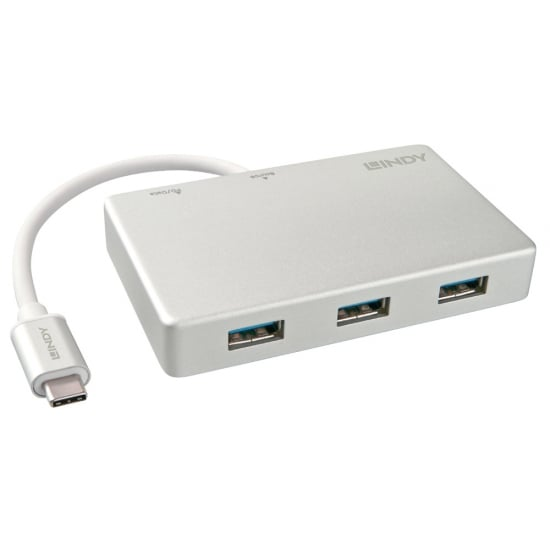3 Port USB 3.1 Type C Hub with USB Power Delivery