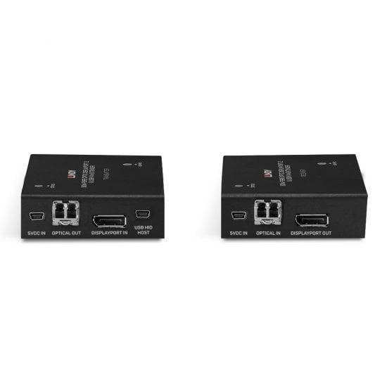 300m Fibre Optic DisplayPort 1.2 & USB KVM Extender