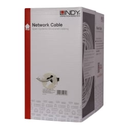 305m Easy Pull Box CAT6 U/UTP Solid Core Bulk Network Cable LS0H, Grey