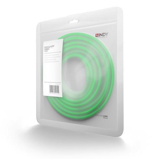 30m Cat.6 U/UTP Network Cable, Green