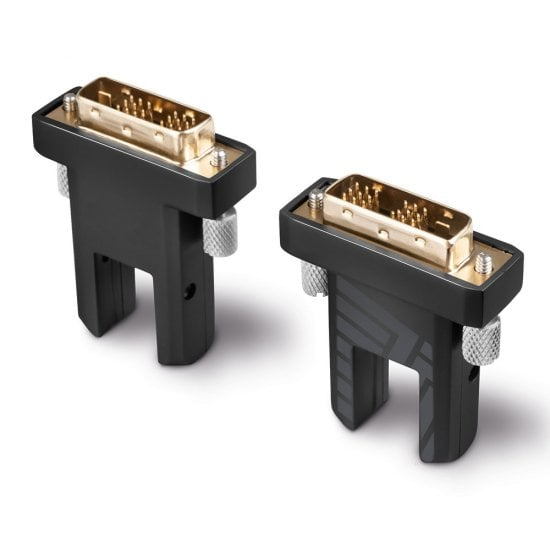 30m Fibre Optic Hybrid Micro-HDMI 18G Cable with Detachable HDMI & DVI Connectors