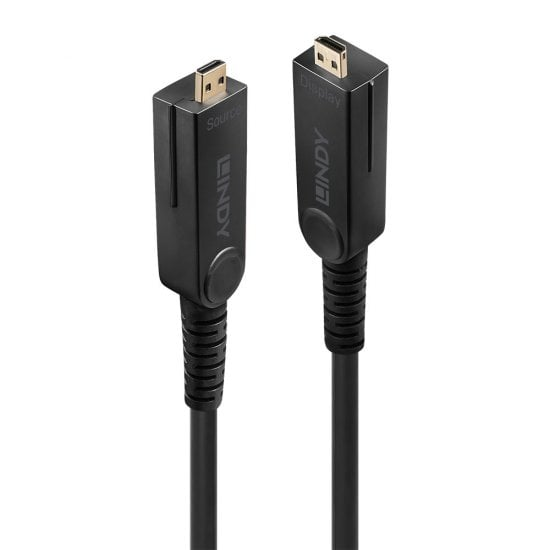 30m Fibre Optic Hybrid Micro-HDMI 2.0 18G Cable with Detachable HDMI & DVI Connectors